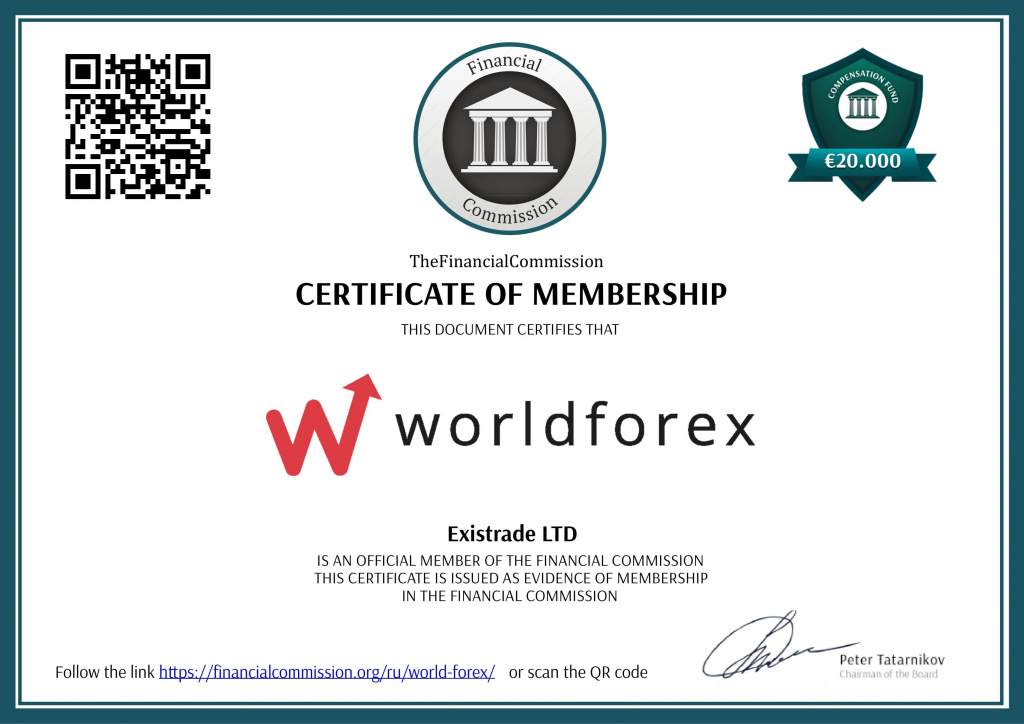 World Forex - Existrade - Лицензия Financial Commission